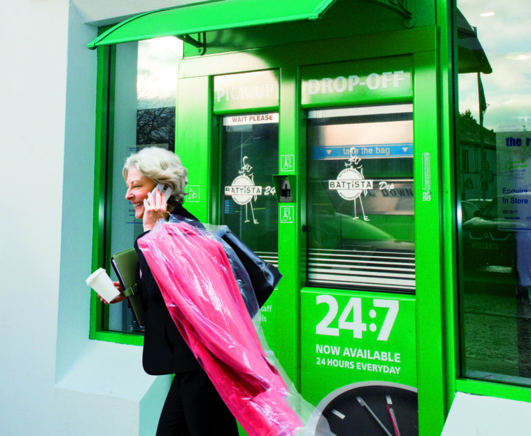 Dry cleaning pickup and drop off